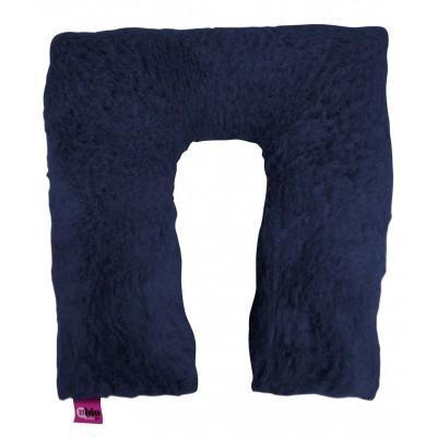 Cuscino suapel in fibra cava a ferro di cavallo quadrato blu