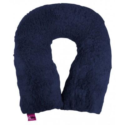 Cuscino suapel in fibra cava a ferro di cavallo blu